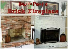 How To Update Brick Fireplace by Floor To Ceiling Brick Fireplace Makeover U2014 Jburgh Homes Easy