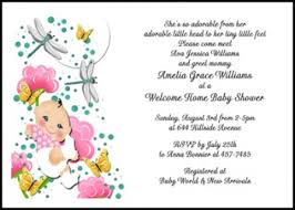 welcome home baby shower clouds butterflies girl welcome home baby shower invitations at