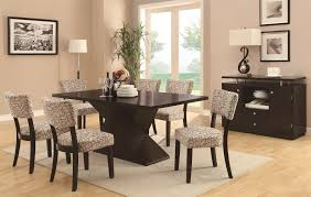 coaster libby rectangular dining table with floating top coaster
