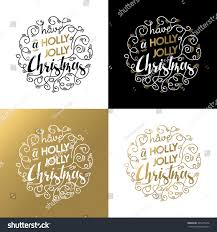 set merry christmas ornament lettering quotes stock illustration