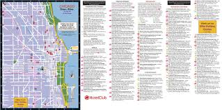 Chicago Map Art by Chicago Hotels Restaurants And Sightseeing Map