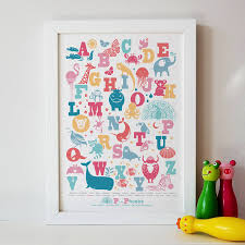 personalised animal alphabet print by pepper print shop