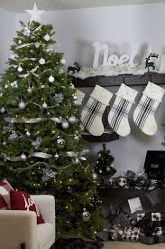 modern black silver and white ombre tree