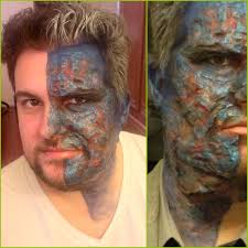 Halloween Makeup Burned Face by Makeup Monday Two Face Transformation This Creative Life
