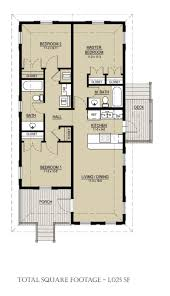 3 Bedroom Floor Plans by Cottage Style House Plan 3 Beds 2 Baths 1025 Sq Ft Plan 536 3