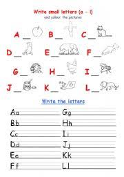 worksheet alphabet writing