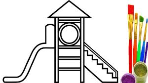 playground for kids coloring pages how to draw videos for kids
