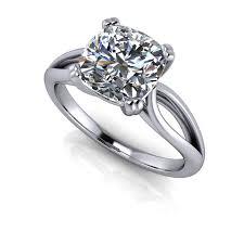 cushion ring moissanite solitaire engagement ring setting cushion cut