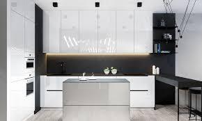 Designing Kitchen Cabinets - kitchen designs glossy white kitchen cabinets with matte