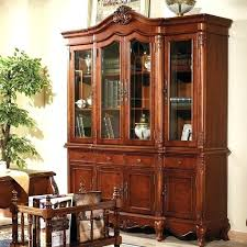 Cherry Wood Bookcase With Doors Cherry Book Shelves Open Bookcase Open Bookcases Bookcases