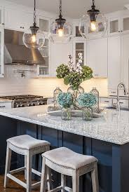 How To Design A Kitchen Island With Seating by Gorgeous Home Tour With Lauren Nicole Designs Globe Pendant