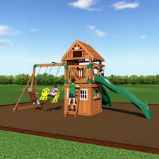 outing wooden swing set playsets backyard discovery