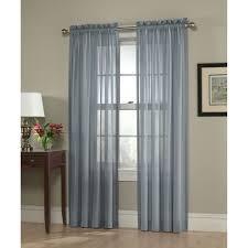 jaclyn smith slate blue georgette semi sheer window panel