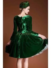 dark green velvet party dress with hat green dresses pinterest