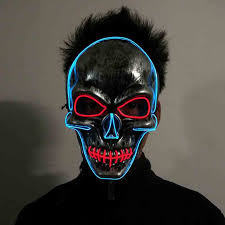 The Purge Mask Halloween Club by Online Buy Wholesale Halloween Neon Lights Mask From China