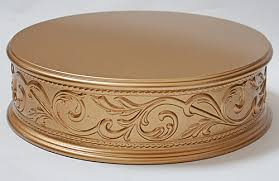 gold wedding cake stand embossed cake plateaus wedding cake stands crafted in the u s a