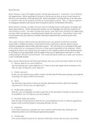 Profile In Resume Resume For Retail Jobs Free Resume Example And Writing Download