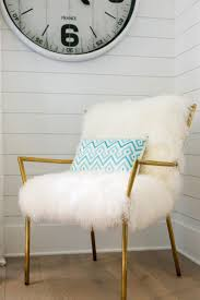 Fuzzy White Chair 15 Easy Ways To Dress Up A Plain Chair Hgtv