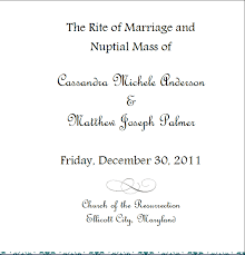 wedding program cover the wedding program cover casey and matt s engagement adventure