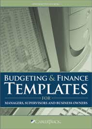 business budget template u0026 finance templates pryor learning