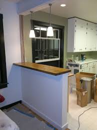 how to install butcher block countertops my stupid house building a sturdy half wall bar top