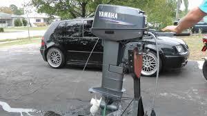 yamaha 25hp longshaft tiller outboard motor 2 stroke youtube