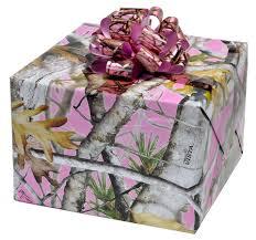 camo gift wrap pink camo gift wrap flat pack