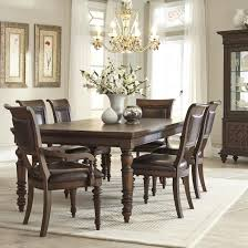 Upholstered Dining Room Chairs With Arms Klaussner International Palencia Rectangular Dining Table With 2