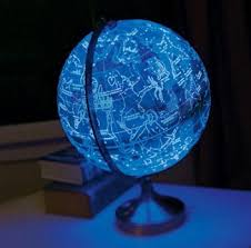earth globes that light up this globe shows earth during the day and constellations at night