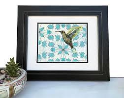 hummingbird wall art etsy
