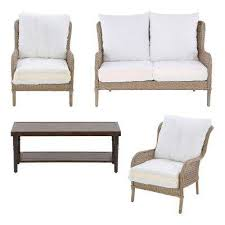 Patio Furniture Couch by Lemon Grove Hampton Bay Patio Furniture Outdoors The Home