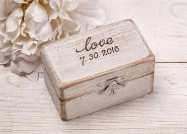 Engravable Keepsake Box Ring Bearer Pillow Engraved Ring Box Rustic Wood Ring Box