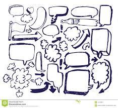 doodle sketch speech bubble arrow royalty free stock photography