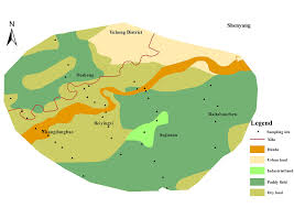 Shenyang China Map by Soil Heavy Metal Pollution And Risk Assessment In Shenyang