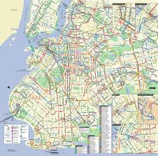 Map Of Manhattan New York City by Map Of Nyc Bus Stations U0026 Lines