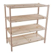 Shoe Storage Bench Amazon Com Wood Shoe Rack Storage Bench U2013 Closet Bathroom