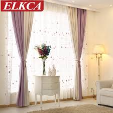 elegant color block thick faux linen curtains for living room
