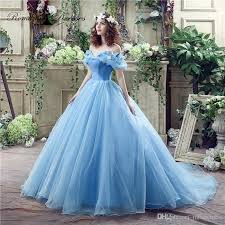 blue wedding dresses cinderella blue wedding dresses party gowns