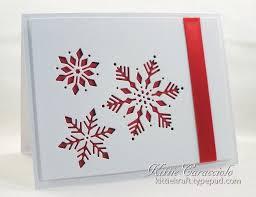 handade card cas snowflake cutouts white with
