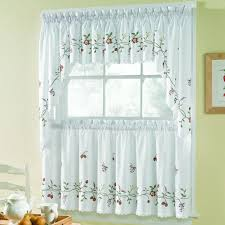 tier curtains cafe curtains sears colormate marlene embroidered tier pair
