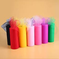 rolls of tulle 5yards 6inch heart sequins tulle soft tulle rolls wedding tulle