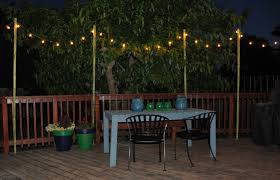 backyard string lights post home outdoor decoration