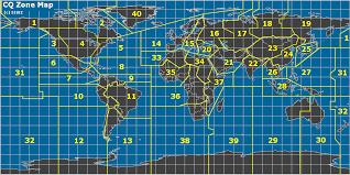 map zones radio cq zones of the map