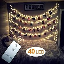 string lights with picture clips amazon com led photo clips string lights 40slights hellum fairy
