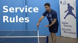 table tennis doubles rules service rules pingskills table tennis youtube