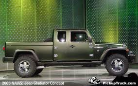 jeep gladiator 2016 pickuptruck com 2005 naias jeep gladiator concept old veackes