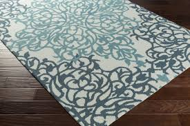 Teal And Gray Area Rug by Artistic Weavers Hermitage Faith Hand Tufted Teal Light Blue Area