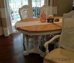 vintage dining table and cane chairs transformation hometalk