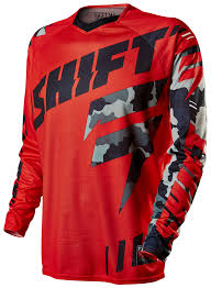 red dirt bike boots shift faction camo jersey revzilla