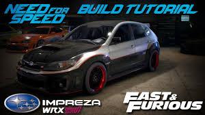 fast subaru wrx need for speed 2015 fast u0026 furious brian u0027s subaru impreza wrx